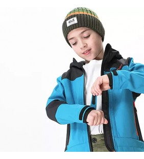 CMP JACKET FIX HOOD SOFTSHELL GIACCA ANTIVENTO BAMBINO