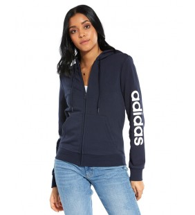 ADIDAS ESSENTIALS LINEAR FULL ZIP HOODIE FELPA DONNA