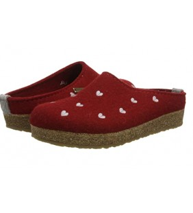 HAFLINGER GRIZZLY CUORICINO PANTOFOLA DONNA